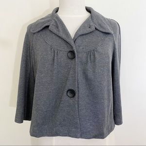 NOTATIONS retro button up gathered yoke jacket S